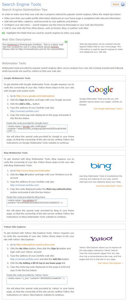 Search Engine Optimizations (SEO)